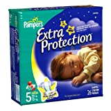 pampers baby extra protection - Pampers Baby Dry Overnight Extra Protection Diapers, Size 5, 26-Count (Pack of 4)