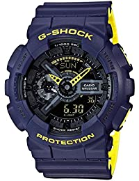 Men's Casio G-Shock Anti-Magnetic Navy Blue and Neon...