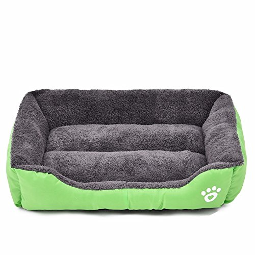 Pet Dog Bed Warming Dog House Soft Material Pet Nest Candy Colored Dog Fall and Winter Warm Nest Kennel For Cat Puppy (Size M)