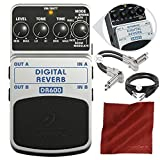 Behringer DR600 Digital Reverb Stompbox Pedal and Accessory Bundle
