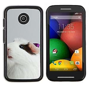 Guinea lindo del cerdo- Metal de aluminio y de plástico duro Caja del teléfono - Negro - Motorola Moto E / XT1021 / XT1022