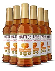 Matteo's Sugar Free Coffee Flavoring Syrup, Salted Caramel, Delicious Coffee Syrup, 0 Calories, 0 Sugar Coffee Syrups, Salted Caramel, 750 milliliters