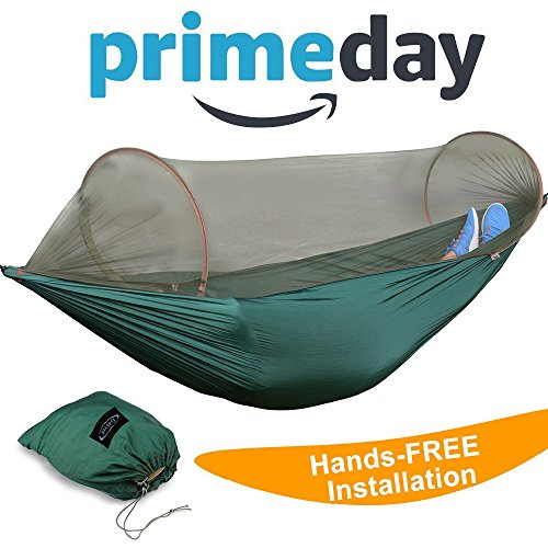 G4Free Double Camping Hammock (2 Person)- Lightweight Portable Parachute Nylon 210T Camping Hammocks for...