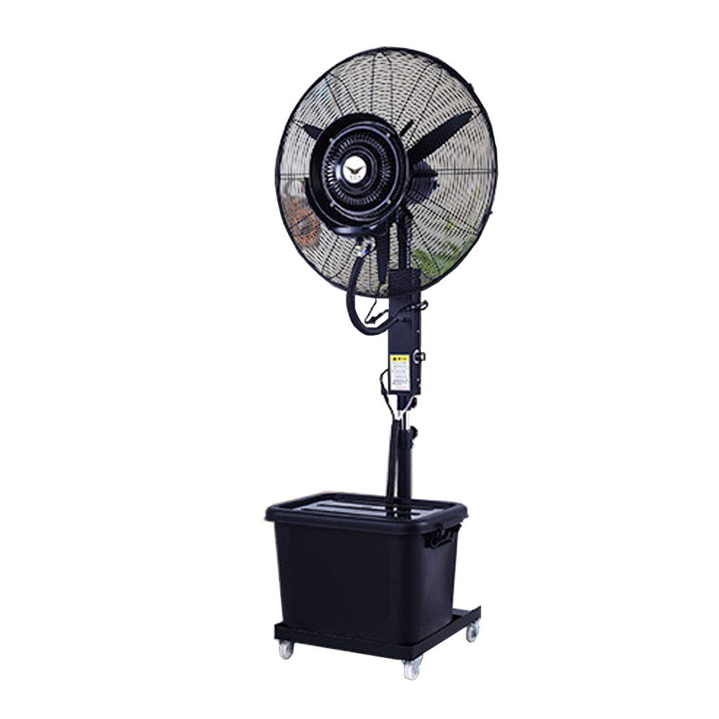 Misting Oscillating Stand Fan 28 Inch Misting Oscillating Lifting Outdoor High Power Atomizing Shaking Head Industrial Spray Fan Suitable for Outdoor/Factory/Shopping Mall/Factory 120V/60Hz by MMLI-Fans
