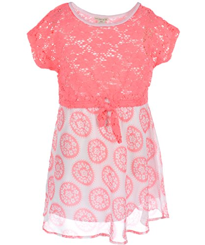 """One Step Up Big Girls' """"Rolling Flowers"""" Dress - pink, 10 - 12"""