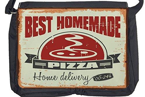 Borsa Tracolla Retro Pizza fatta in casa Stampato