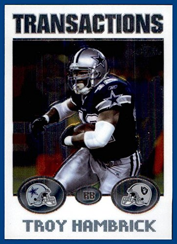 2004 Topps Chrome #19 Troy Hambrick DALLAS COWBOYS OAKLAND RAIDERS Savannah State -