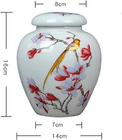 ricordo Fatto a Mano in Ceramica SJB Urna funebre for Ceneri Adulto for Animali Domestici Color : 1 Prova dumidit/à pu/ò Essere utilizzato per Funerale o crematorio