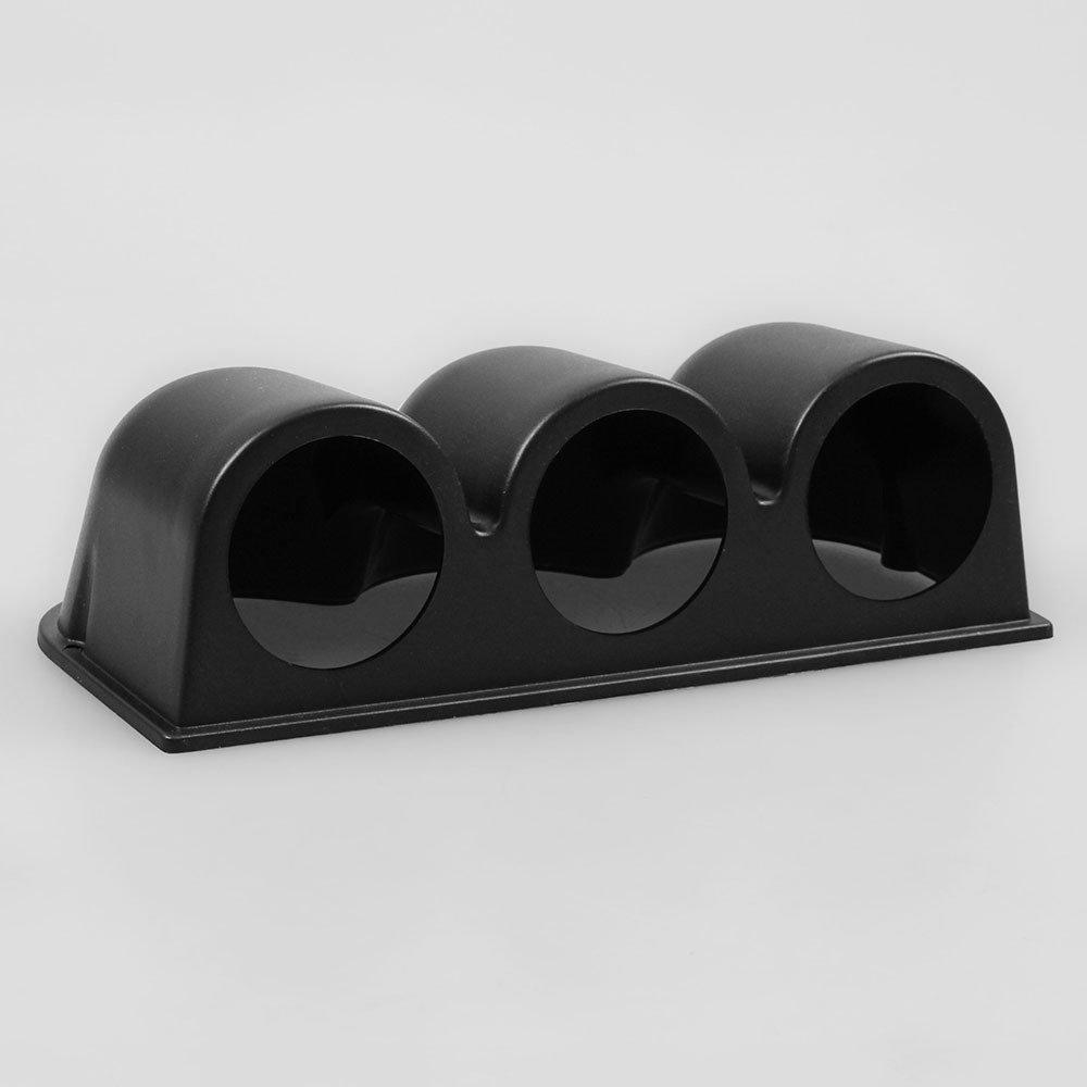 BEESCLOVER Support Universel pour Tableau de Bord 3 Trous Noir 52 mm
