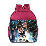Kids Astro Boy School Backpack Fashion Baby Boys Girls School Bag Pink