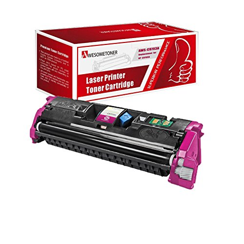 AwesomeToner 1 PK C9703A Compatible Toner cartridge For HP Color LaserJet 1500 1500L 1500LXI 2500 2500L 2500N 2500TN High Yield Magenta 4000 Pages