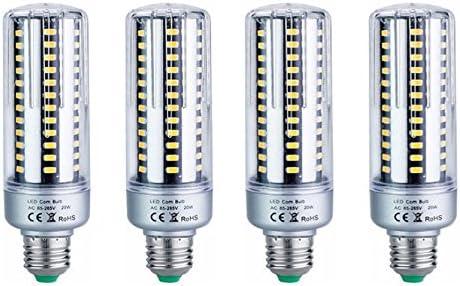 EBD Lighting 15W LED Light Bulbs E26//E27 Corn LED Bulbs 200 Watt Equivalent -1300lm 156 LEDs 5736 SMD Super Bright White 6000K 3 Pack Energy Saving Home Bulbs with Cover Garden Lighting,AC85-265V