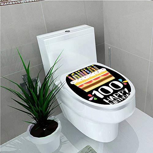 aolankaili Waterproof self-Adhesive Old Legacy 100 Birthday Party Cake Candles on Black Backdrop Multicolor W15 x L17