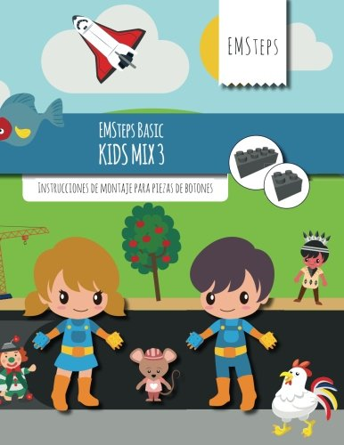 EMSteps Basic Kids Mix 3: Instrucciones de montaje para piezas de botones (Volume 3) (Spanish Edition)