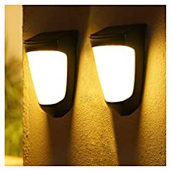 Garden and Outdoor Solar Lights Outdoor Decorative – IP54 Waterproof Porch Light Led Garden Light with No Wiring Required, Wall Mount Fence… outdoor lighting