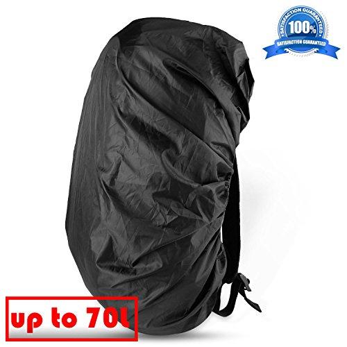 ONSON Backpack Rain Cover, Nylon Waterproof Backpack Rain Cover,Water-Resistant Backpack Rucksack Bag Rain Cover,Rucksack Water Protector Cover (Adjustable) for Hiking,Camping,Climbing,Cycling (70L)