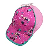 Disney Girls Minnie Mouse Baseball Cap with Velcro Closure - 100% Cotton