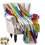 Pride Blanket Sheets Love Valentines Theme Burst with Cute Little Colorful Hearts Word LGBT Gay Lesbian Fall Winter Spring Living Room 36' Wx60 L Multicolor