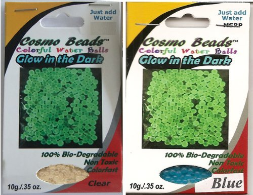 (Bundle: Grow and Glow-in-the-dark; CLEAR and BLUE over 1,100 Amazing Cosmo Beads(tm) Water Marble Balls ;Great for Gift Giving As Stocking Stuffers. Kids of All Ages Will Love'em. by Cosmo Beads)