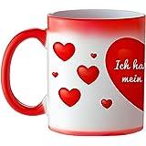 Magische Liebes Tasse – Standard - Zaubertasse mit Farbwechseleffekt – Origineller Kaffeebecher als romantisches Geburtstagsgeschenk