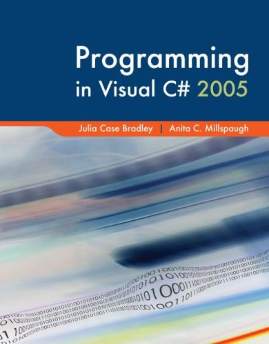 Programming in Visual C# with Visual Studio Professional Edition Software