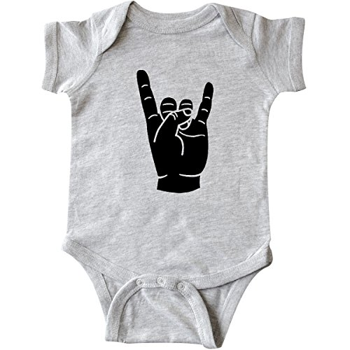 inktastic - Rocker Horns Infant Creeper Newborn Heather Grey 18b1d - Pantera Rock Music Band