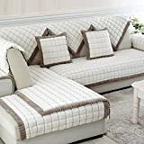 Furniture Covers, Flannel Thickening Non-Slip Couch Protector, Prevent Ash and Direct Sunlight Sofa Throw, Can be Sofa Cushion/Back Towel/Arm Towel/Bay Window Cushion,White_70240cm(2894in)