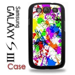 Samsung Galaxy S3 Plastic Case - Paint Splatter Paint Colorful WANGJING JINDA