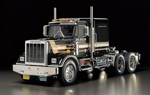 Tamiya Rc Tractor Truck - 1/14 electric RC car No.70 TRACTOR TRUCK KING HAULER BLACK EDITION FULL SET 57070
