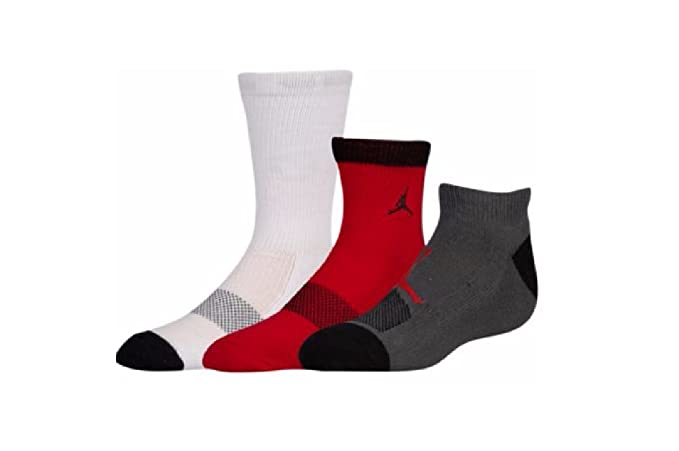 Jordan 3 Pack Mesh Waterfall Socks - Boys Grade School Size 3Y-5Y