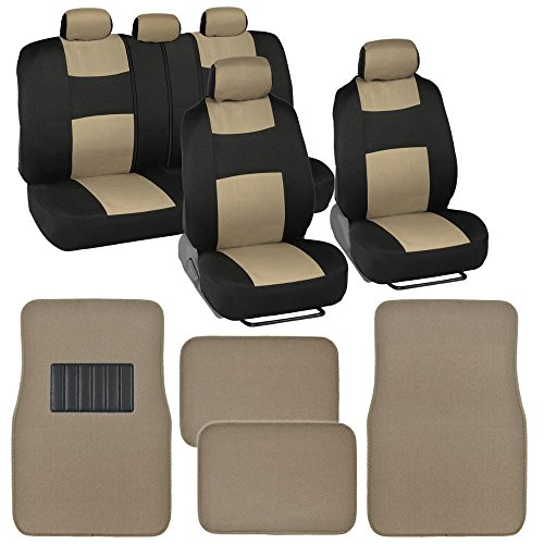 car seat cover floor set beige - 7