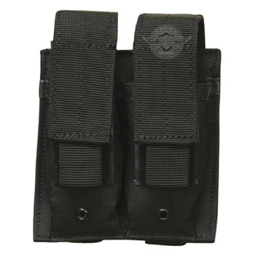 5ive Star Gear MPD-5S Double Pistol Magazine Pouch, Black ()