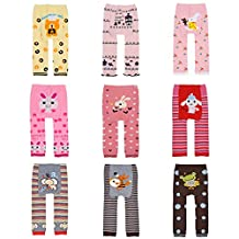 Toddler Baby Boy Cute Printed Elasticity Long Pants Lovely Trousers Pack of 3