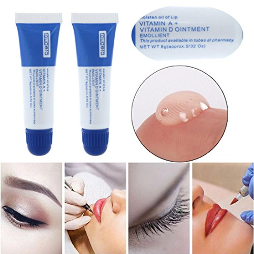 Hunputa 5Pcs Professional Vitamin Ointment A&D Anti Scar Tattoo Aftercare Cream For Eyebrow Lip Tattoo Permanent Makeup Tattoo Supplies