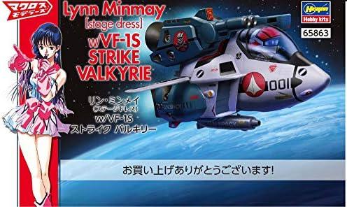 du Japon Hasegawa 1//24 échelle 65863 Kit Lynn minmay avec VF-1S Strike Valkyrie..
