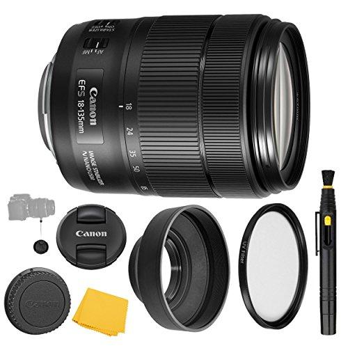 Canon EF-S 18-135mm f/3.5-5.6 IS Nano USM Lens + UV Filter + Collapsible Rubber Lens Hood + Lens Cleaning Pen + Lens Cap Keeper + Cleaning Cloth - 18-135mm IS Nano USM - International Version