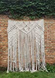 Cheap RISEON Large 59″ W x 78″ L Handmade Macrame Wedding Backdrop, Macrame Wedding Arch Arbor, Macrame Wall Hanging,Macrame Door Hanging,Room divider,macrame Curtains,Window Curtain BOHO Wall Art