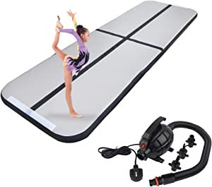 Polar Aurora 9.84ft/13.12ft/16.40ft/19.68ft Air Inflatable path Tumbling Mat for Gymnastics with Electric Air Pump for Practice Gymnastics