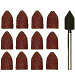 Proxxon Manchons abrasifs bretelles 8mm avec 10embouts, 1pièce, rostrot, 28987