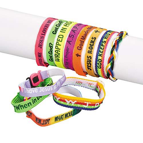 Fun Express - Mega Religious Friendship Bracelets (150 - Jewelry - Bracelets - Friendship Bracelets - 150 Pieces