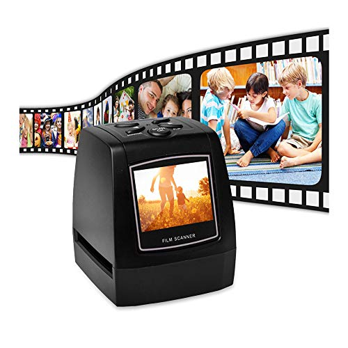 Film Scanner, KKmoon Mini Digital Film Scanner Converts 126KPK/135/110/Super 8 Films Slides Negatives to 22M Digital Photos 2.4inch LCD Screen 128MB Built-in Memory