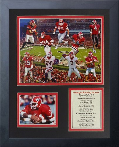 (Legends Never Die Georgia Bulldogs Greats Framed Photo Collage, 11 by 14-Inch)