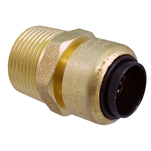 Elkhart Products 10177380 TecTite Low-Lead 204 Series 1/2-Inch by 3/4-Inch Copper by Male Push-Fit Adapter -