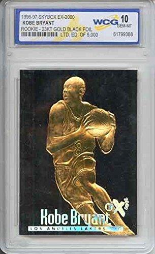 KOBE BRYANT 1996-97 Skybox EX-2000 Rookie 23KT Gold Card GEM MINT 10 BLACK GOLD ()
