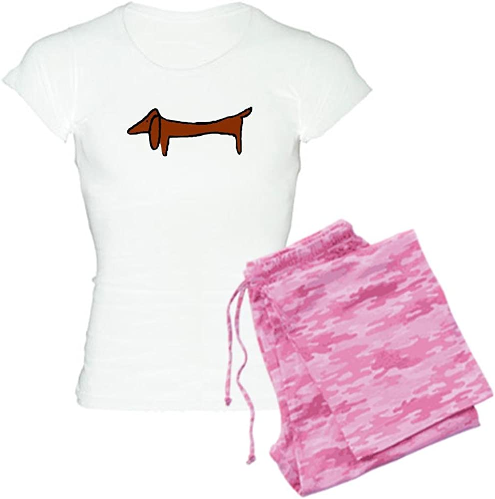 CafePress One Weiner Dog Womens Light Pajamas Womens PJs