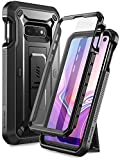 SUPCASE Unicorn Beetle Pro Series Designed for Samsung Galaxy S10e Case (2020 Release) Full-Body Dual Layer Rugged with Holster & Kickstand with Built-in Screen Protector (Black)