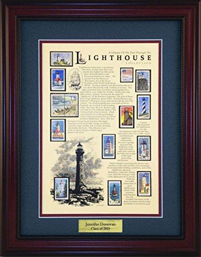 (Lighthouse - Unique Framed Collectible (A Great Gift Idea) with Personalized Engraved)