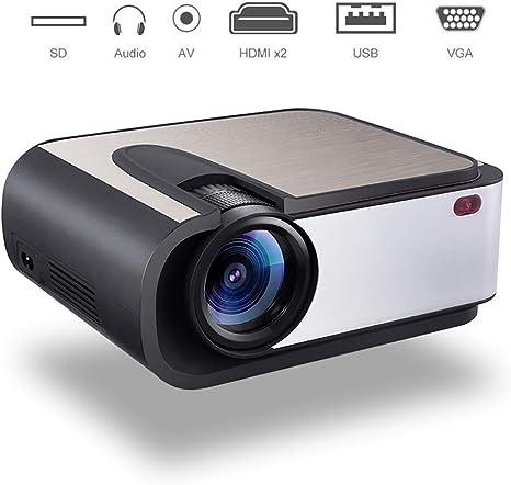 YTBLF Proyector LED, Cine en casa con proyección de Video LED Full ...