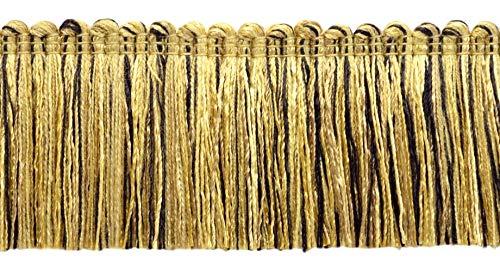 Brush Black Fringe (DecoPro 5 Yard Value Pack of Veranda Collection 2