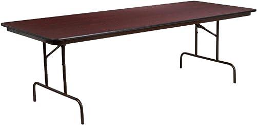 Flash Furniture 8-Foot High Pressure Mahogany Laminate Folding Banquet Table